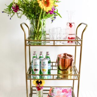 Simple Bar Cart Styling