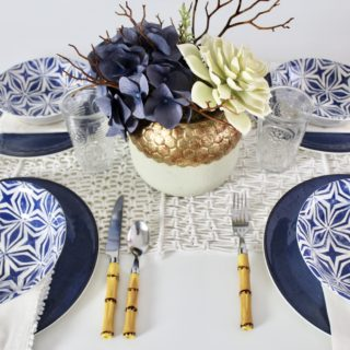 Indigo Tablescape