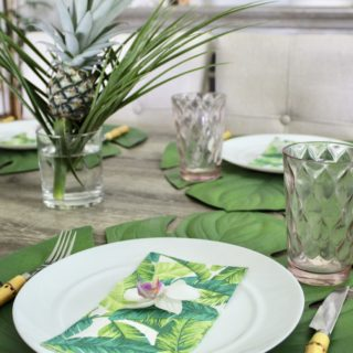 Tropical Palm Tablescape