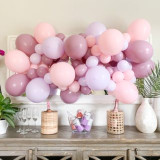 Spring Tablescape and Balloon Wall