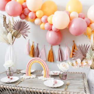 How to Style a Gorgeous Boho Rainbow Party