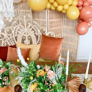 How to Style a Boho Inspired Tablescape